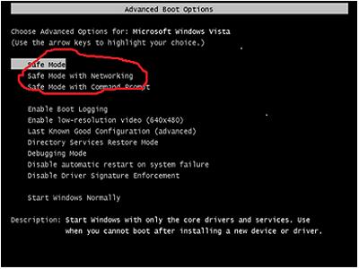Start computer in safe mode