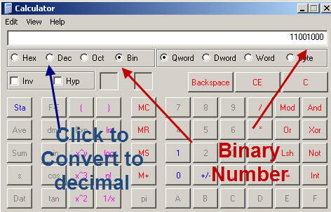 binary decimal calculator