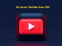 YouTube Error 503