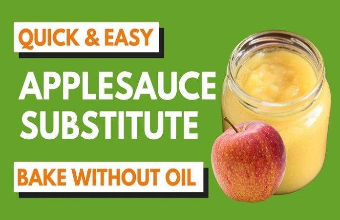 replacing oil with applesauce