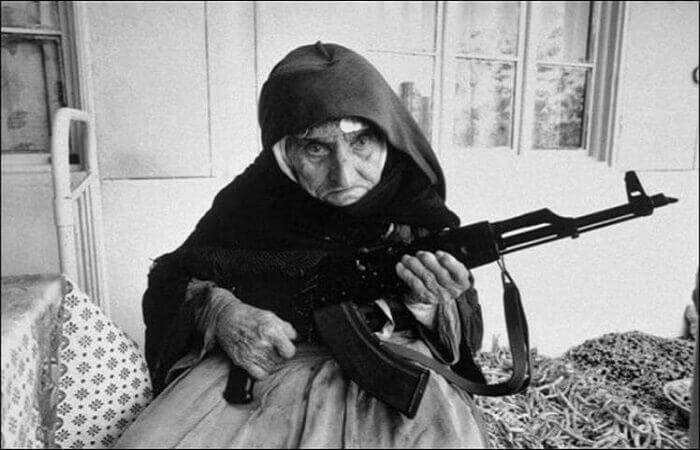 an old women warrior