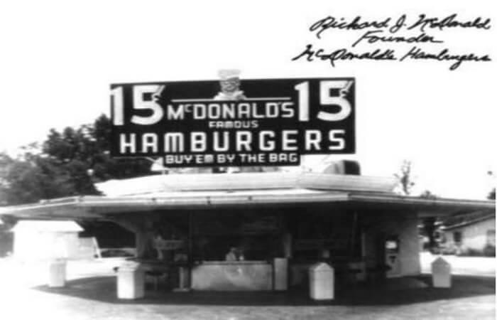 first McDonald store